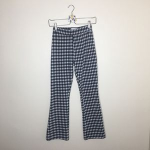 Urban outfitters checkered wide leg trousers small